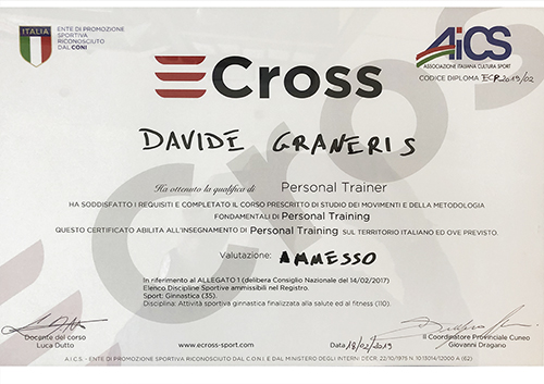 Attestato personal trainer ecross