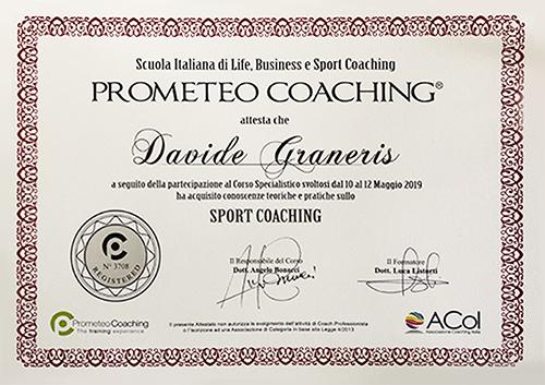 Attestato sport coaching prometeo