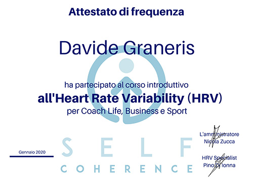 Attestato Heart Rate Variability